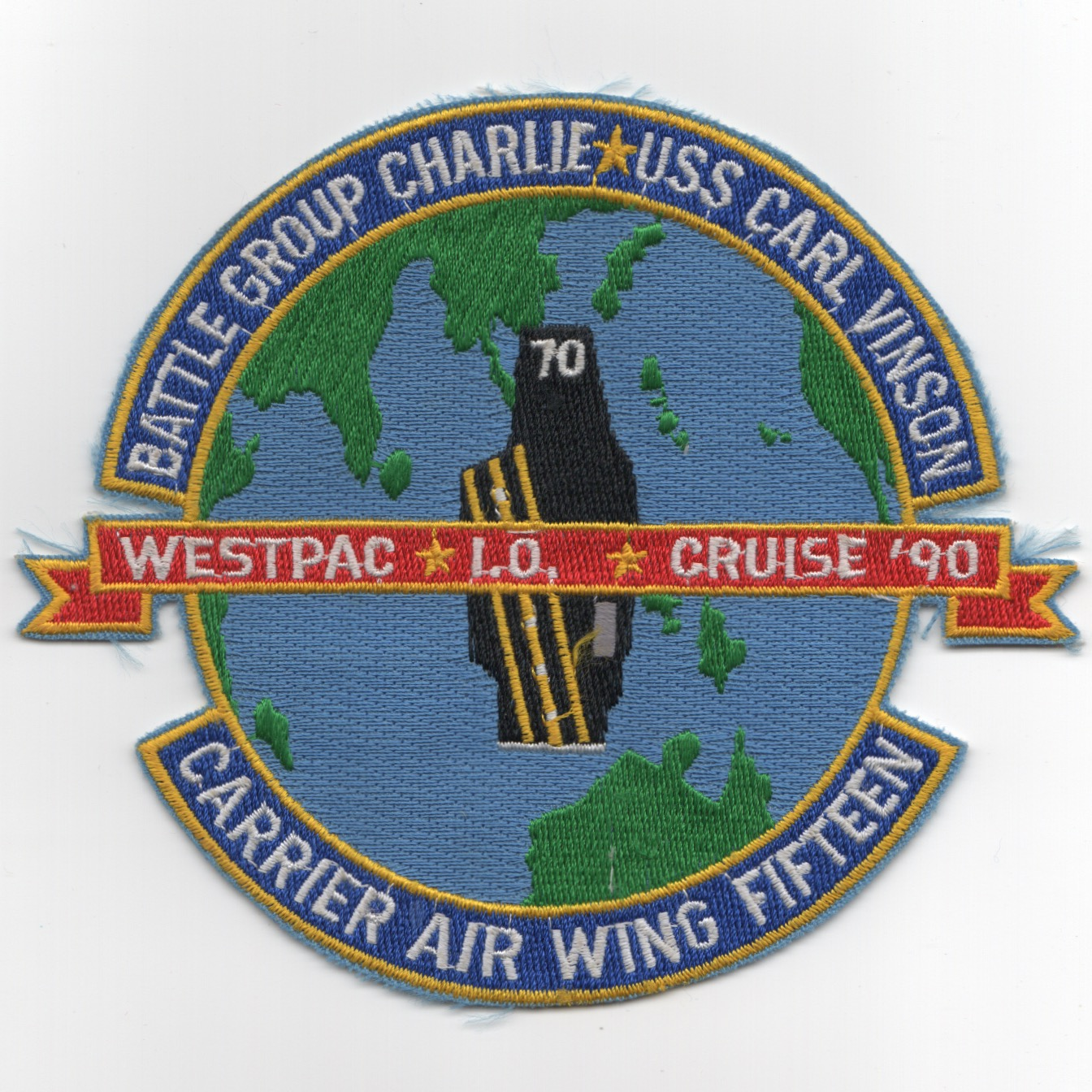 CVN-70/CVW-15 1990 'WESTPAC/IO' Cruise Patch