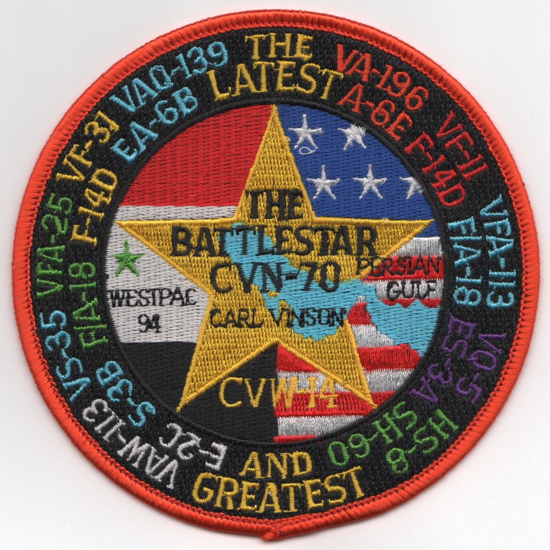 VA-196/VAQ-139 1994 'WESTPAC' Cruise Patch