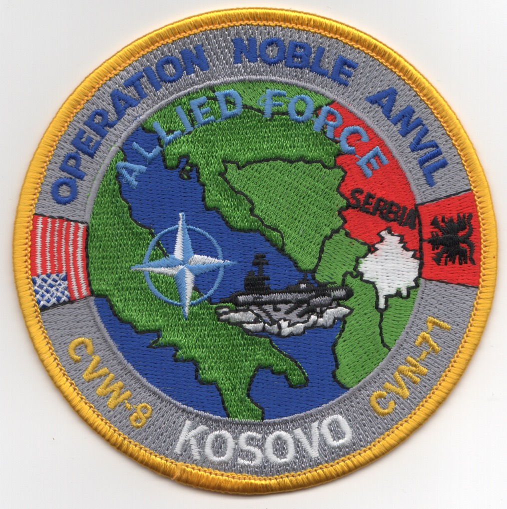 CVN-71/CVW-8 1998 'NOBLE ANVIL' Cruise Patch