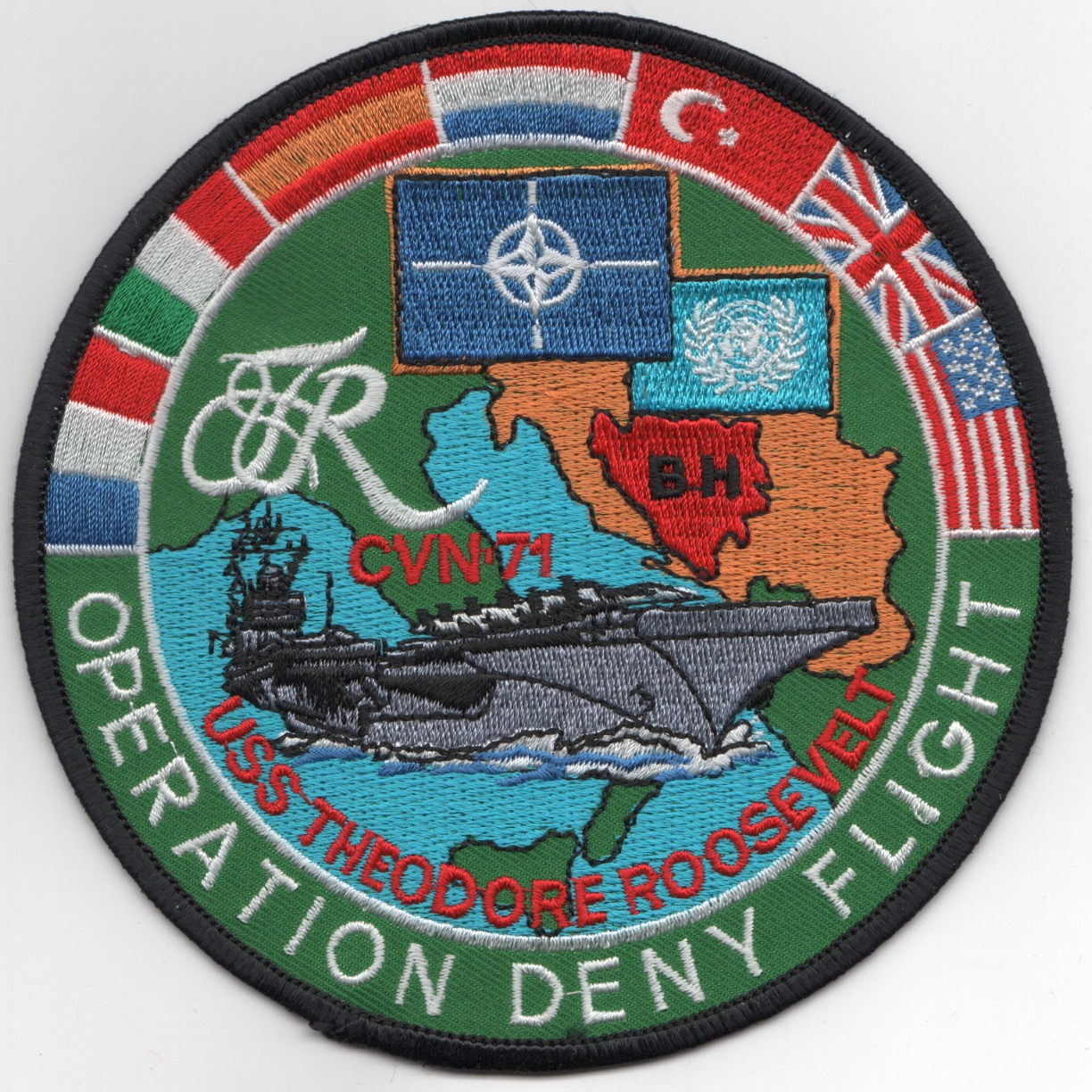 CVN-71/CVW-8 1998 'DENY FLIGHT' Cruise Patch