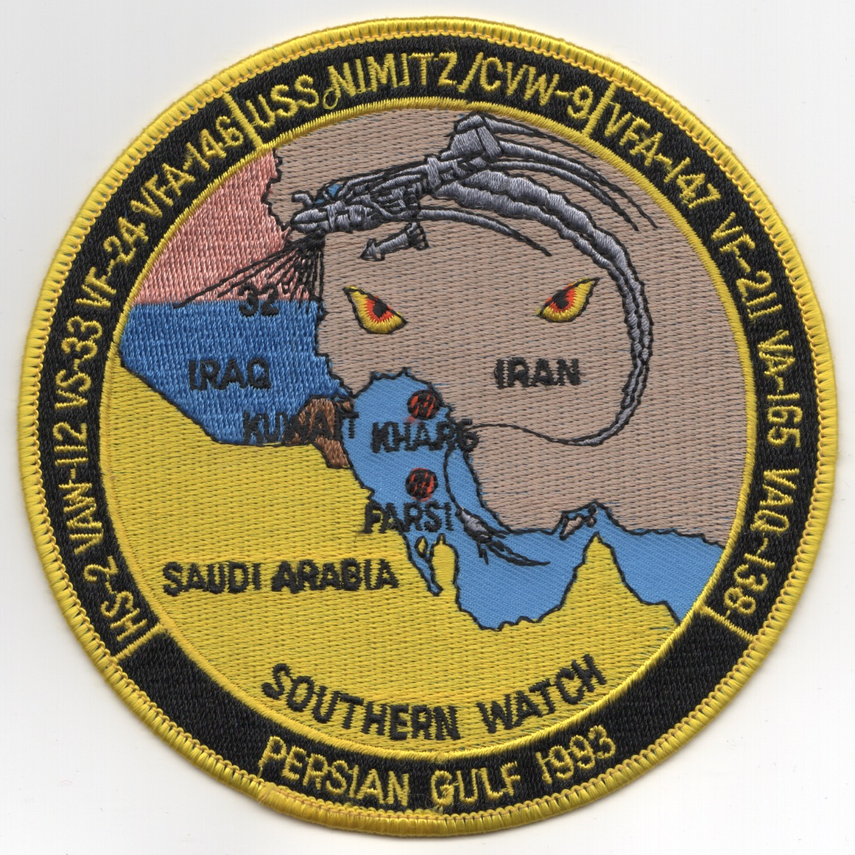 VAQ-138 1993 'OSW' Cruise Patch