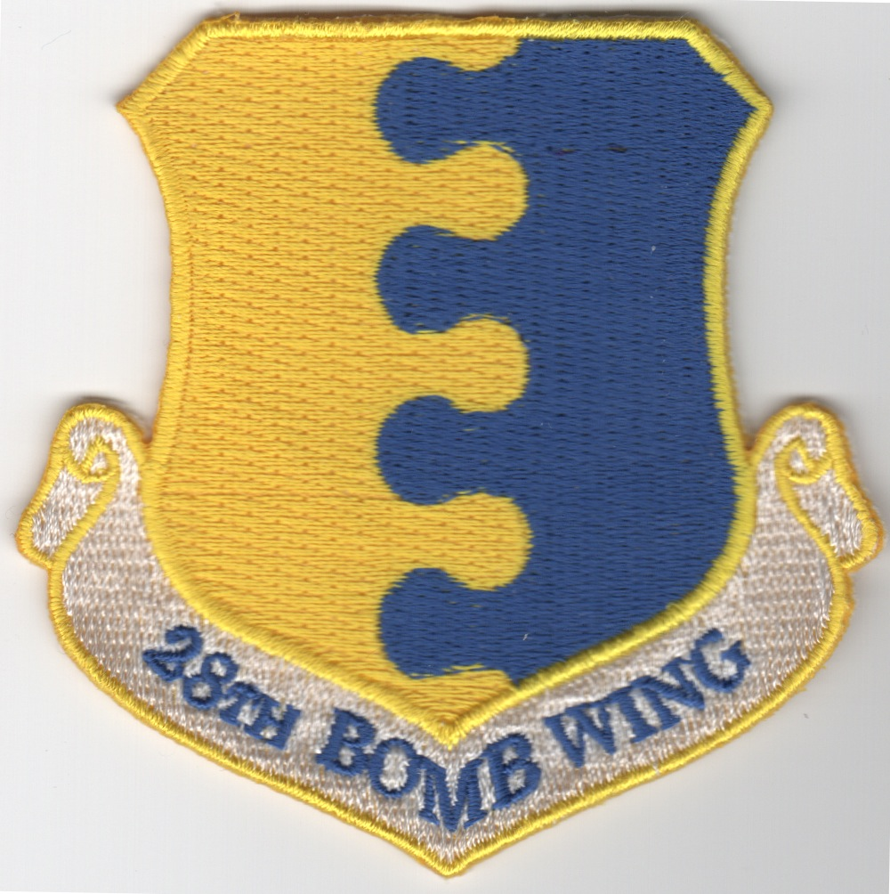 28th Bomb Wing Patch (No Velcro)