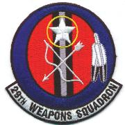 29th Weapons Squadron Patch
