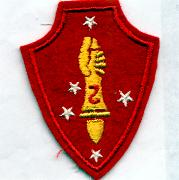 2nd USMC WW II (Authentic) Patch