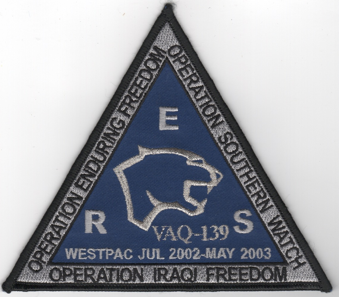 VAQ-139 2003 'OIF/OEF/OSW Cruise' Patch