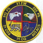 31FW 'Gaggle' Patch (4 Sqdn)
