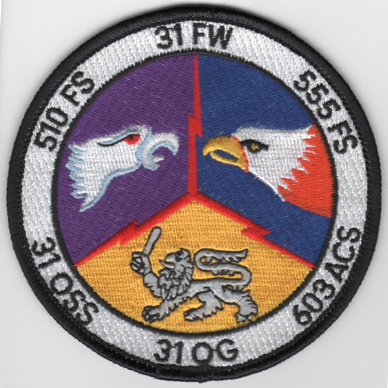 31FW 'Gaggle' Patch (3 Sqdn/Black Border)