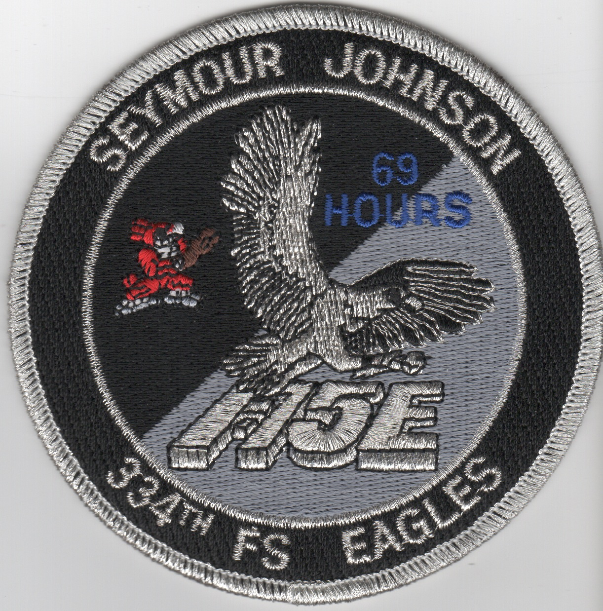 334FS F-15E 69 Hours 'Tinsel' Patch (Black)