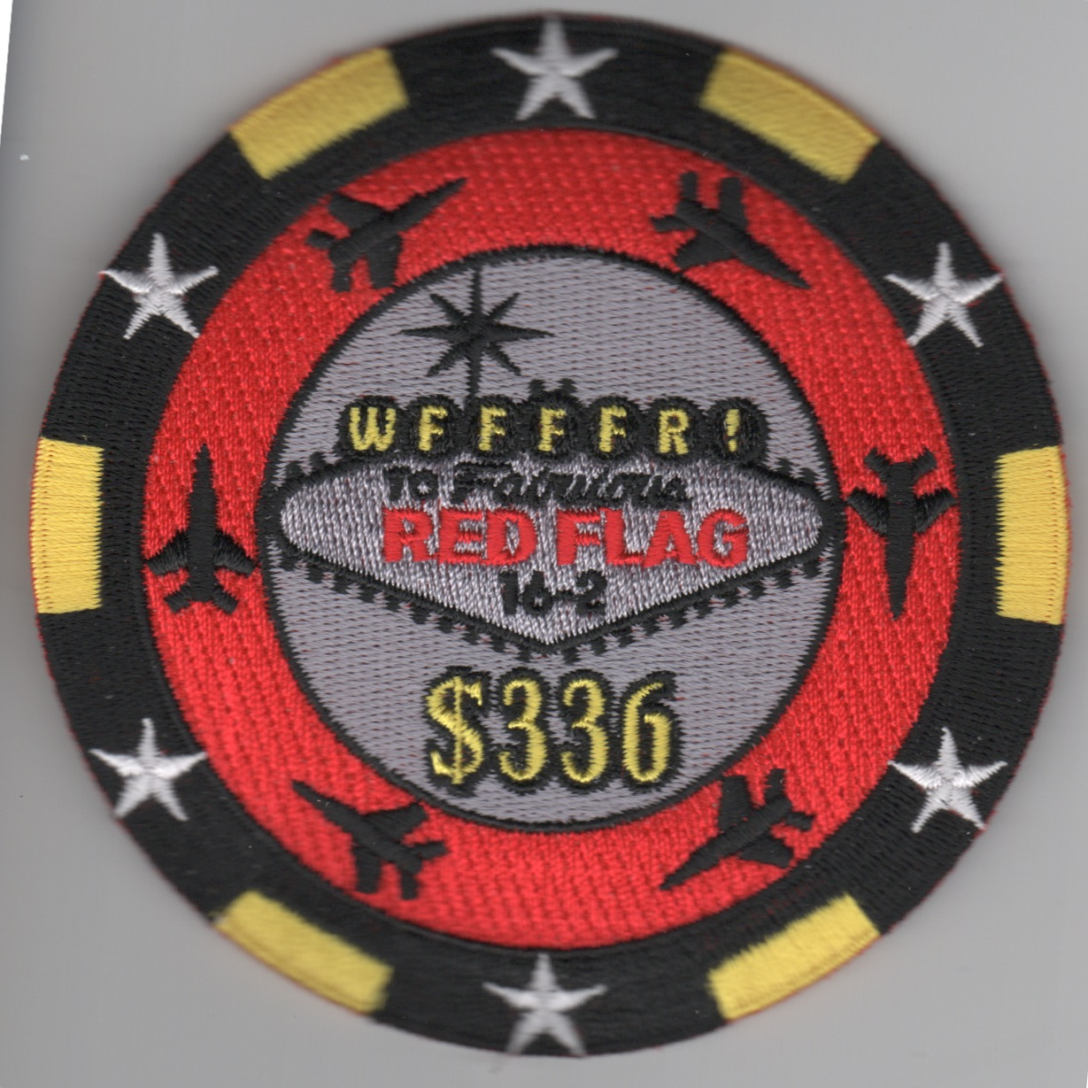 336FS 'Red Flag 16-3' Poker Chip Patch