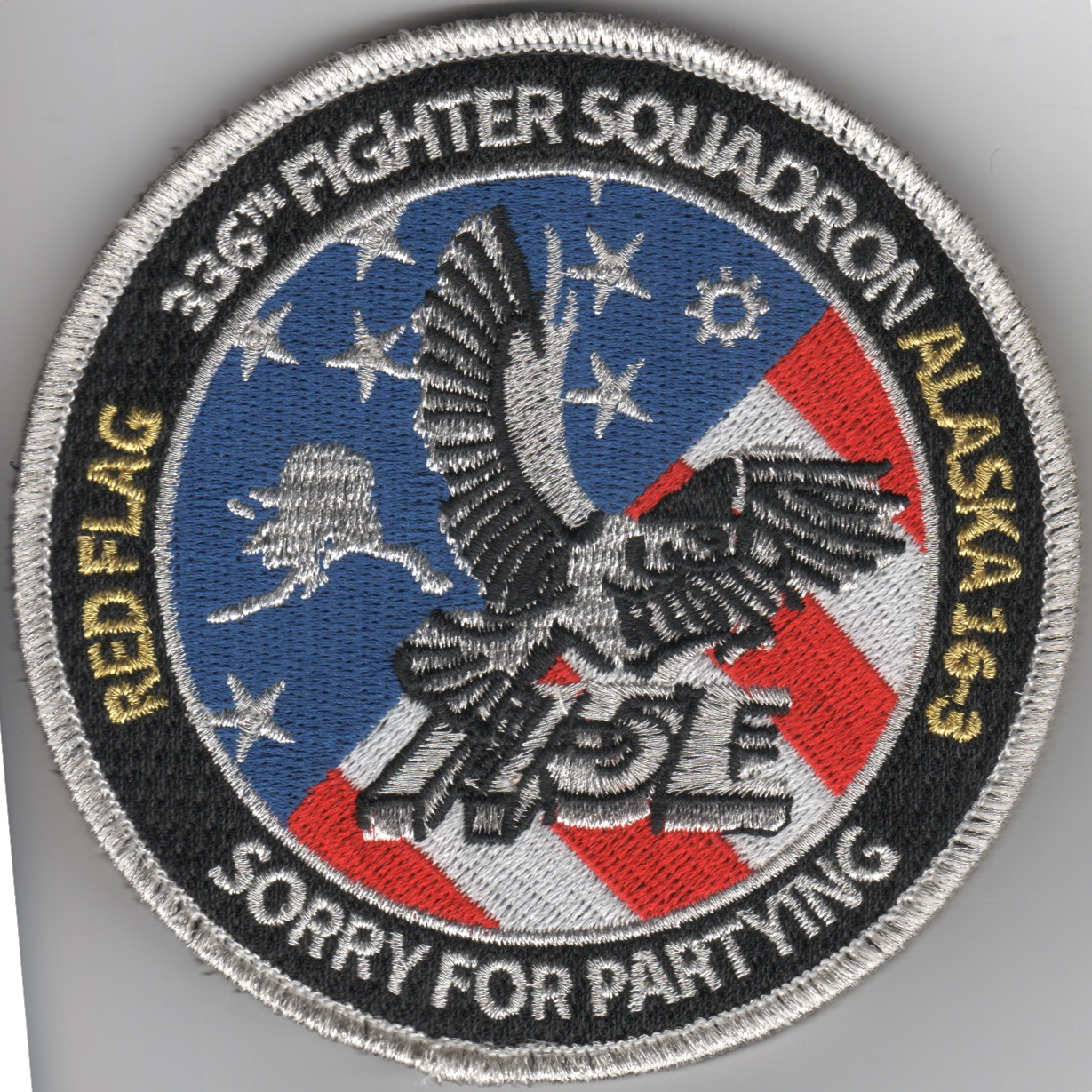336FS RF16-3 'Tinsel' Patch (R/W/B)