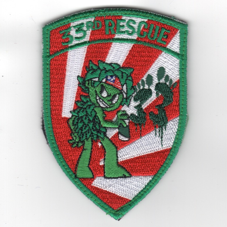 33RS 'Evil Jolly' Shield (Red-White Rays)