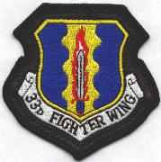 33rd Fighter Wing (Leather-Border)