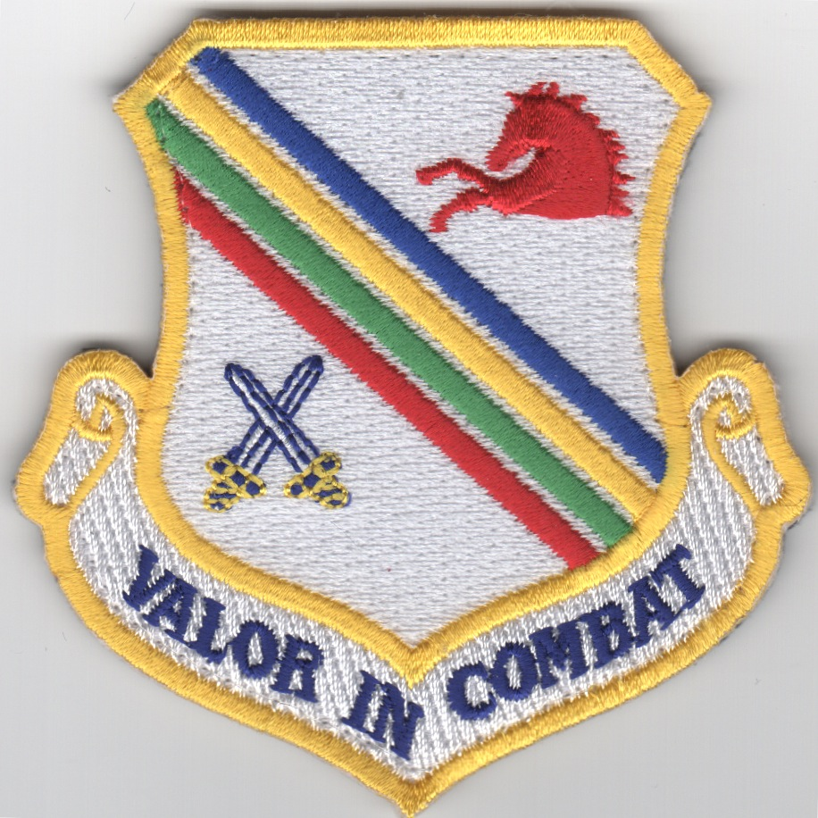 354FW 'Valor in Combat' Crest (White)