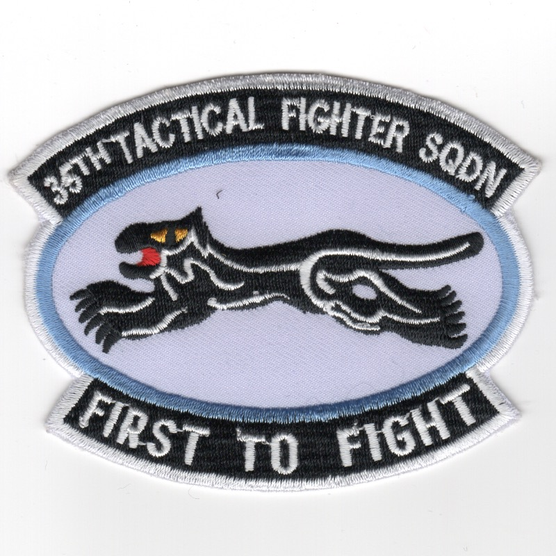 35TFS 'First to Fight' (White/2-Tabs/K)