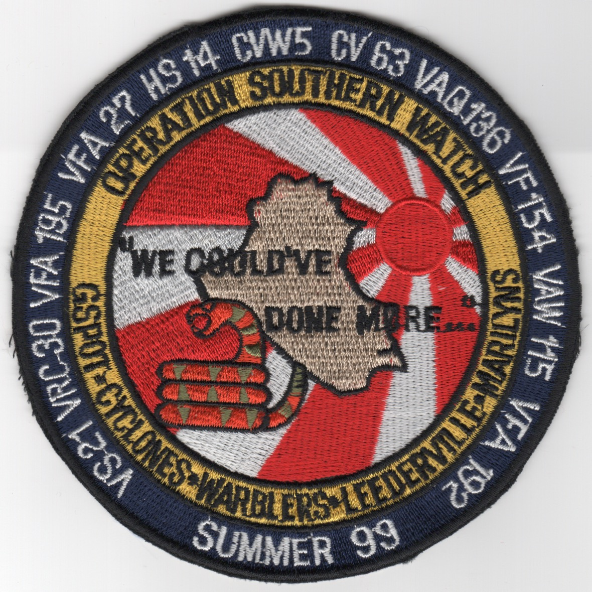 370) CV-63 1999 OSW Cruise Patch