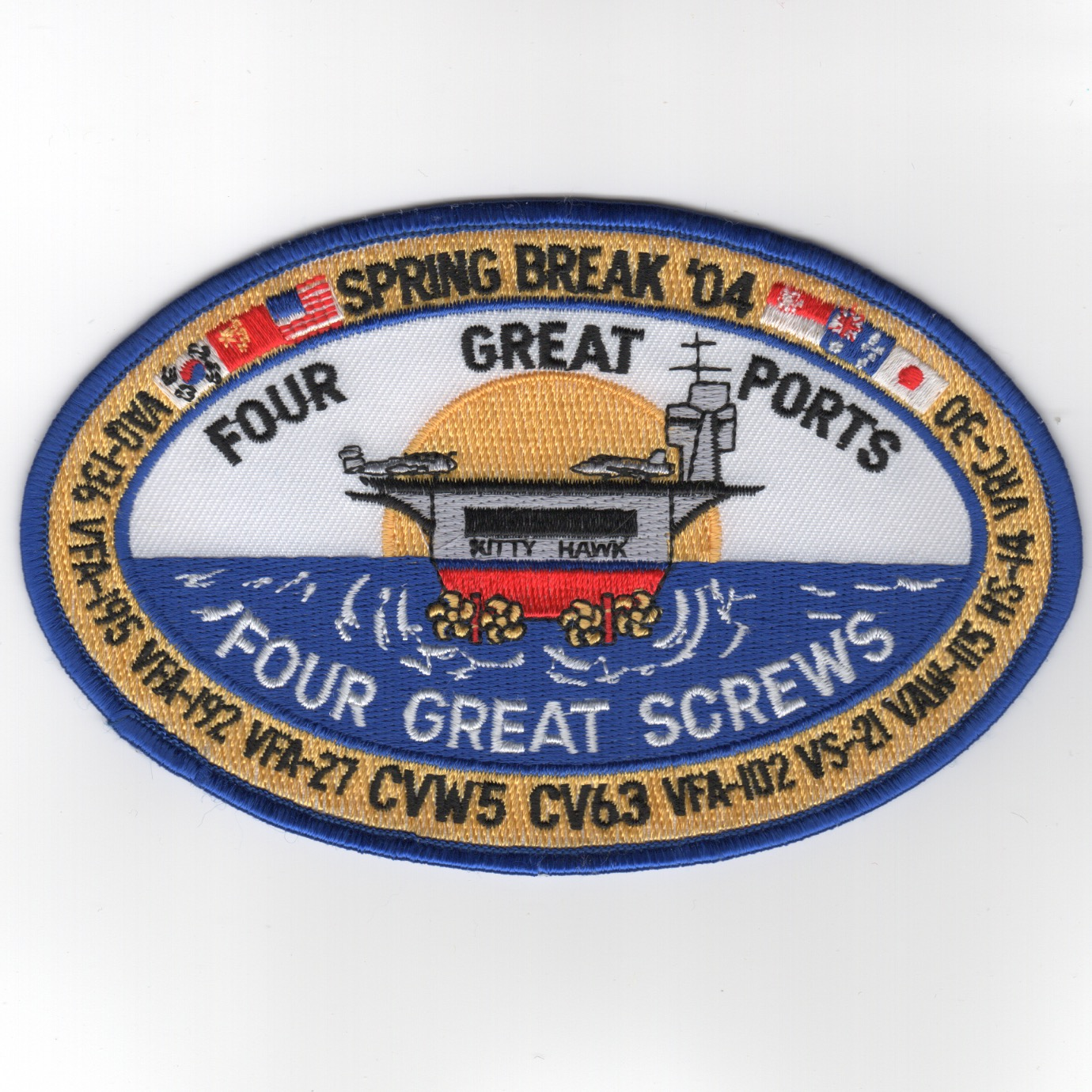 376) CV-63/CVW-5 2004 Spring Break Cruise Patch