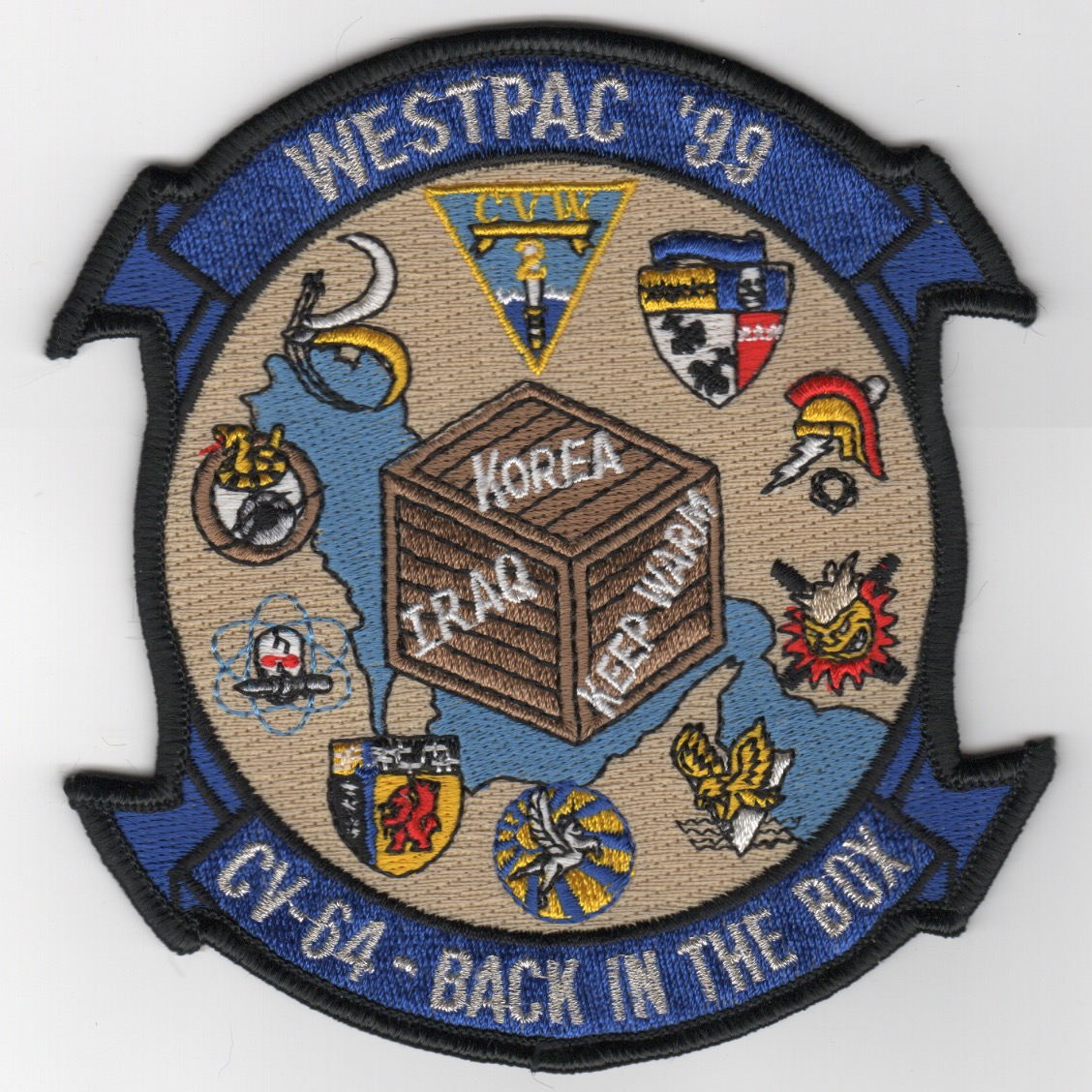 378) CV-64/CVW-2 1999 WestPac Cruise Patch