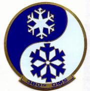 380th OMS Bomber Patch (METAL)