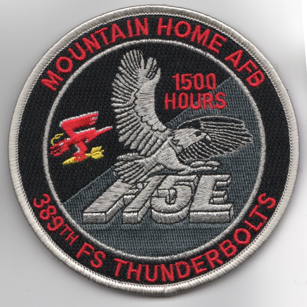 389FS F-15E 'Tinsel' Patch (Red Letters/1500 Hours/V)