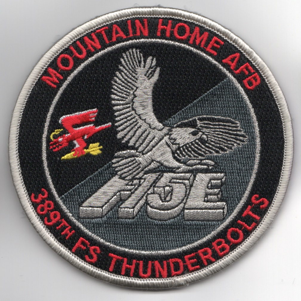 389FS F-15E 'Tinsel' Patch (Red Letters/NO Hours/V)