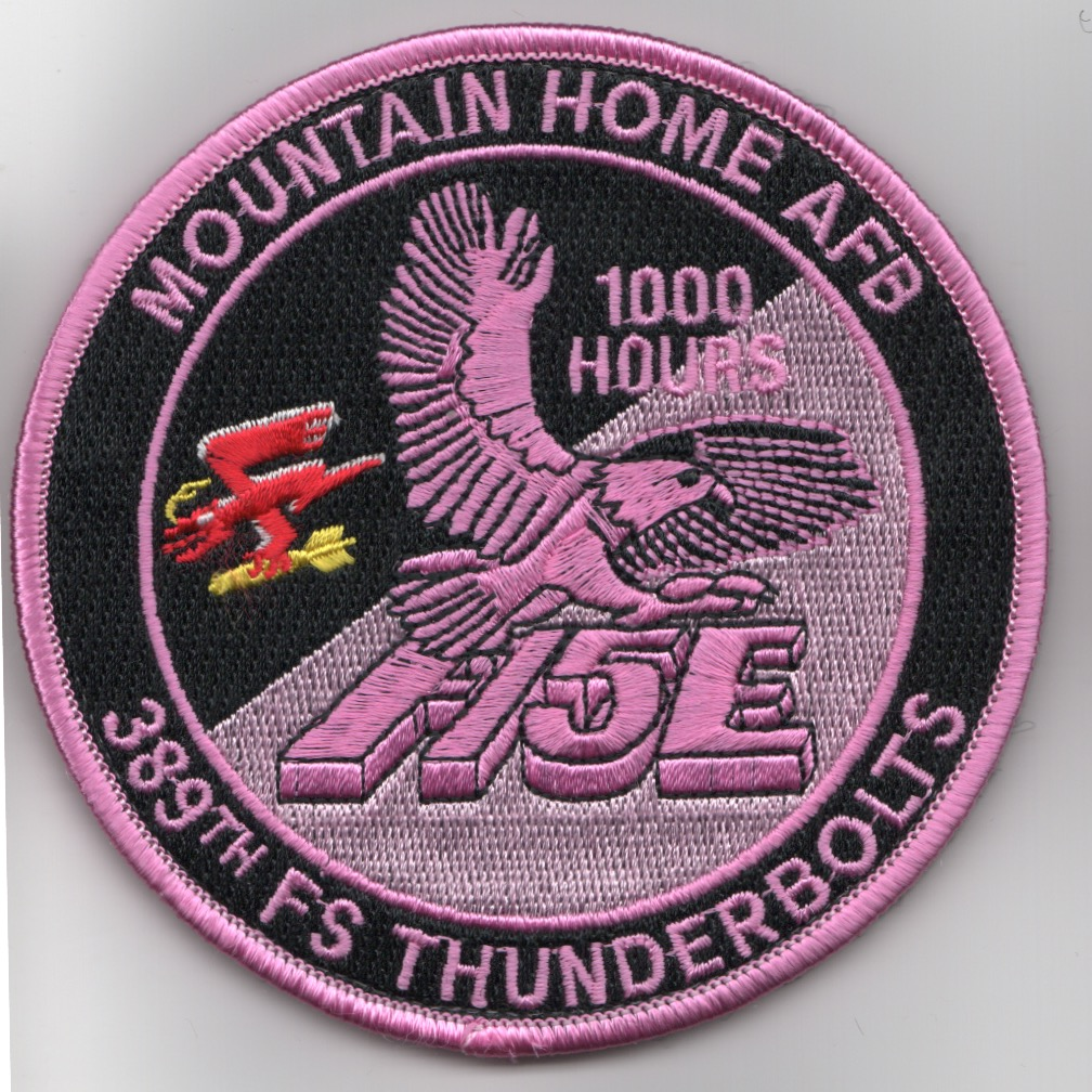 389FS F-15E 'Tinsel' Patch (PINK/1000 Hours/V)