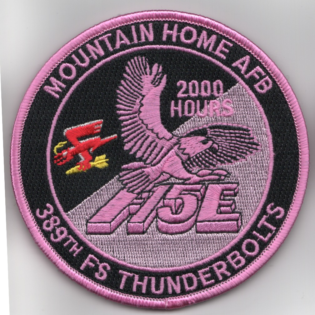 389FS F-15E 'Tinsel' Patch (PINK/2000 Hours/V)