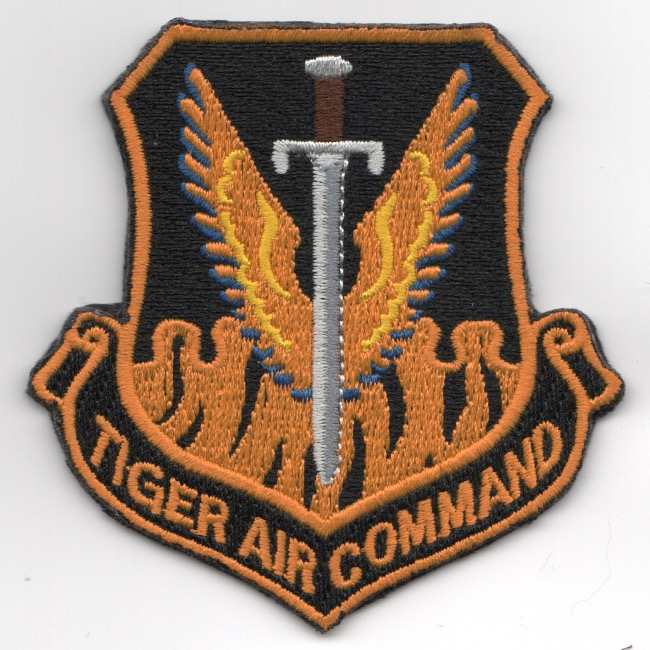 391FS 'Tiger Air Command' Crest (Orange)