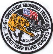 391FS F-15E OEF Patch (Round/White)