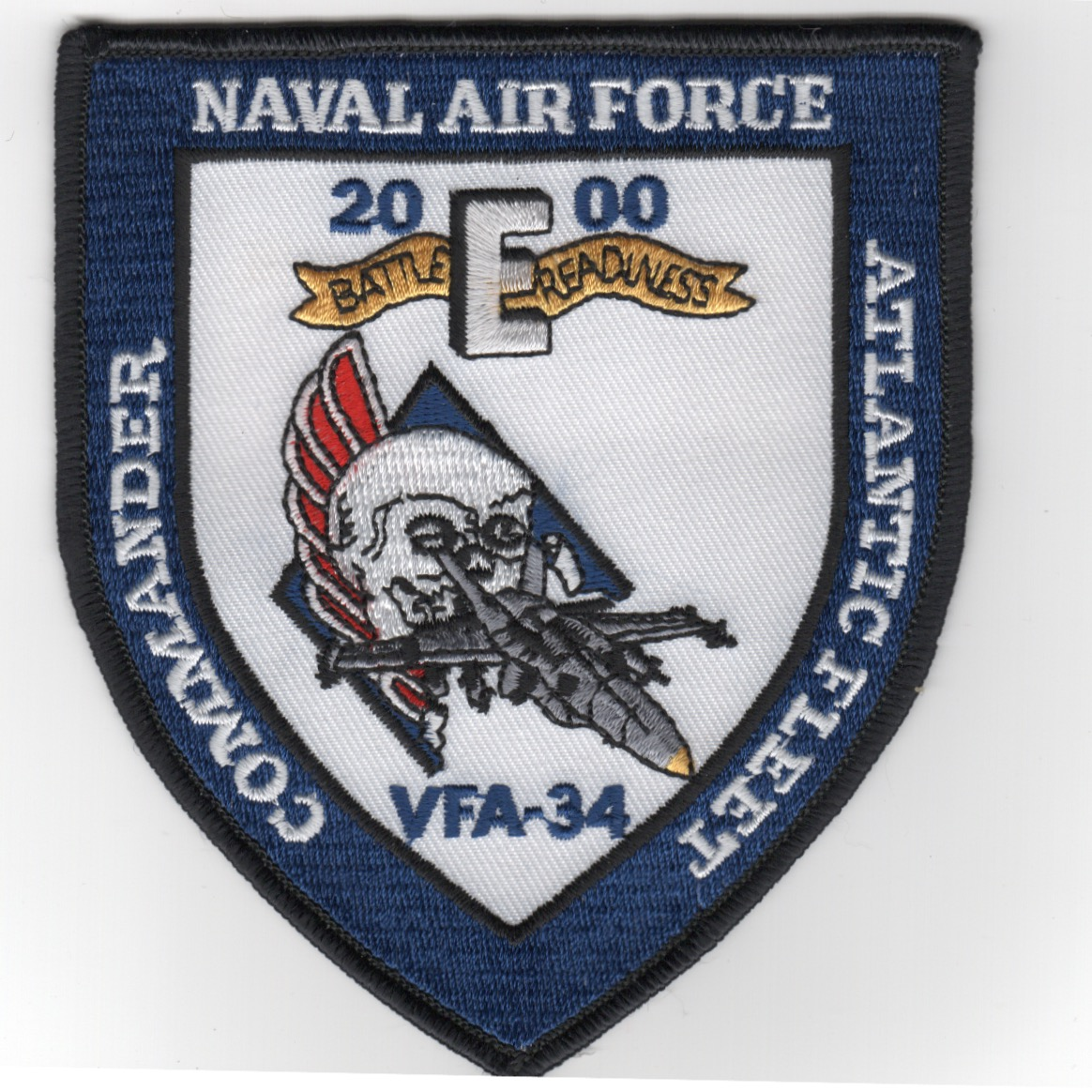 393) VFA-34 2000 Battle 'E' Shield Patch