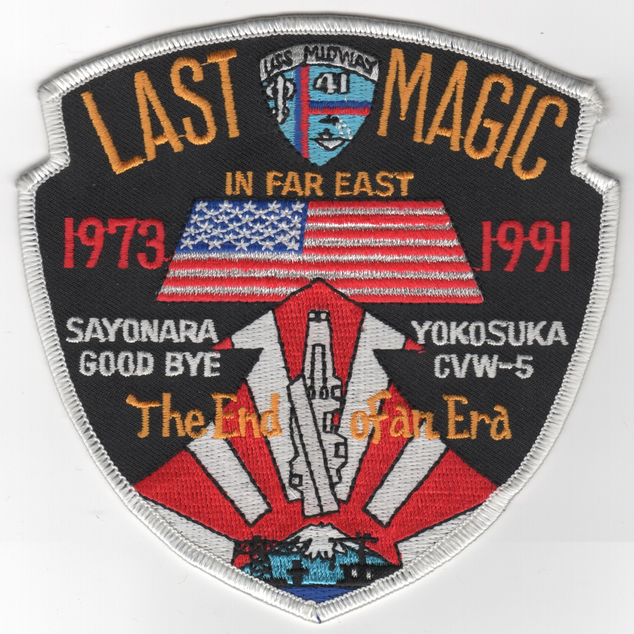 399) CV-41 '1991 LAST MAGIC' Cruise Patch