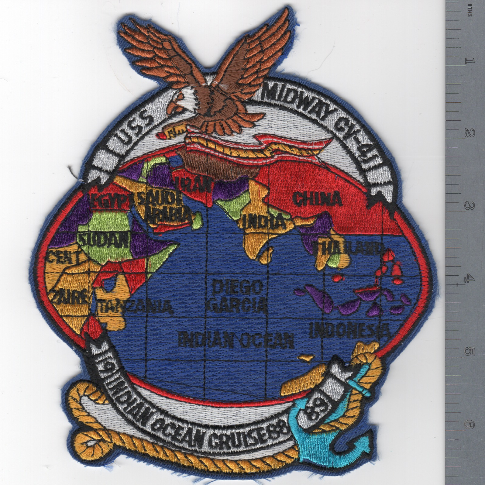 400) CV-41 1988-89 I.O. Cruise Patch (Large)