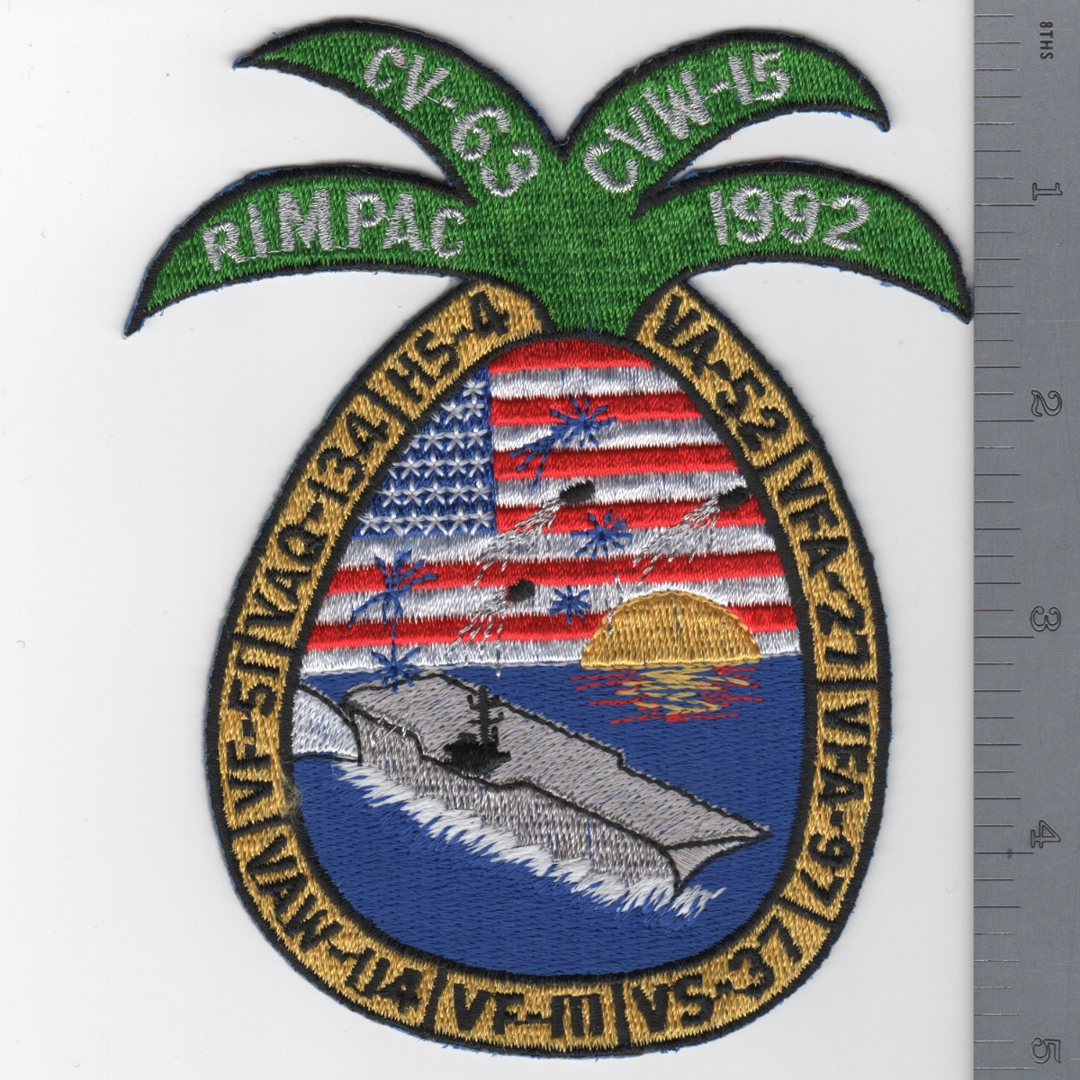 406) CV-63 1992 RIMPAC Cruise Patch