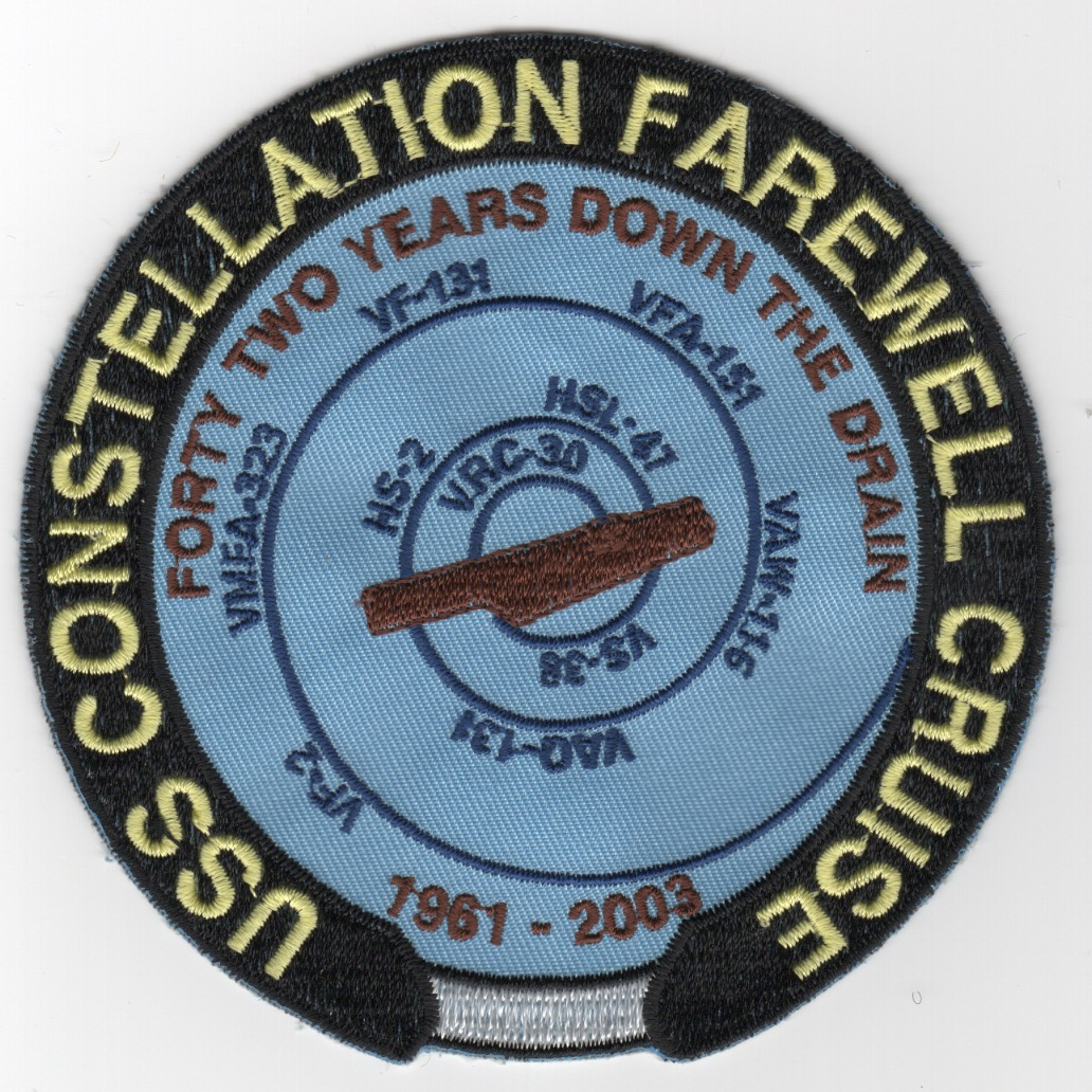 407) CV-64 'FAREWELL' Cruise Patch