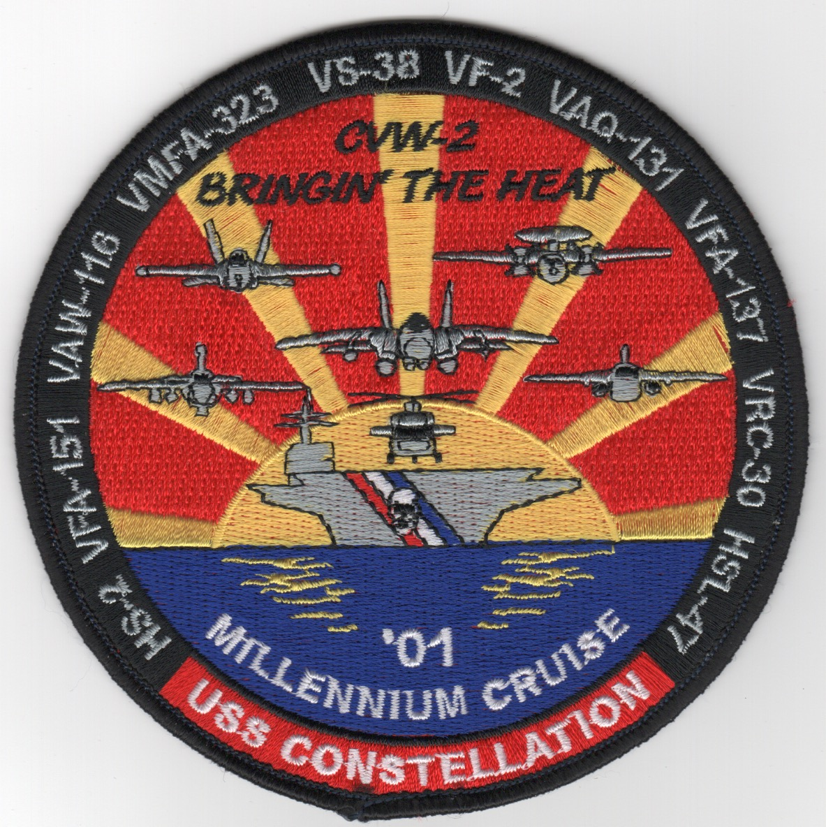 411) VF-2/CV-64 'MILLENIUM' Cruise Patch