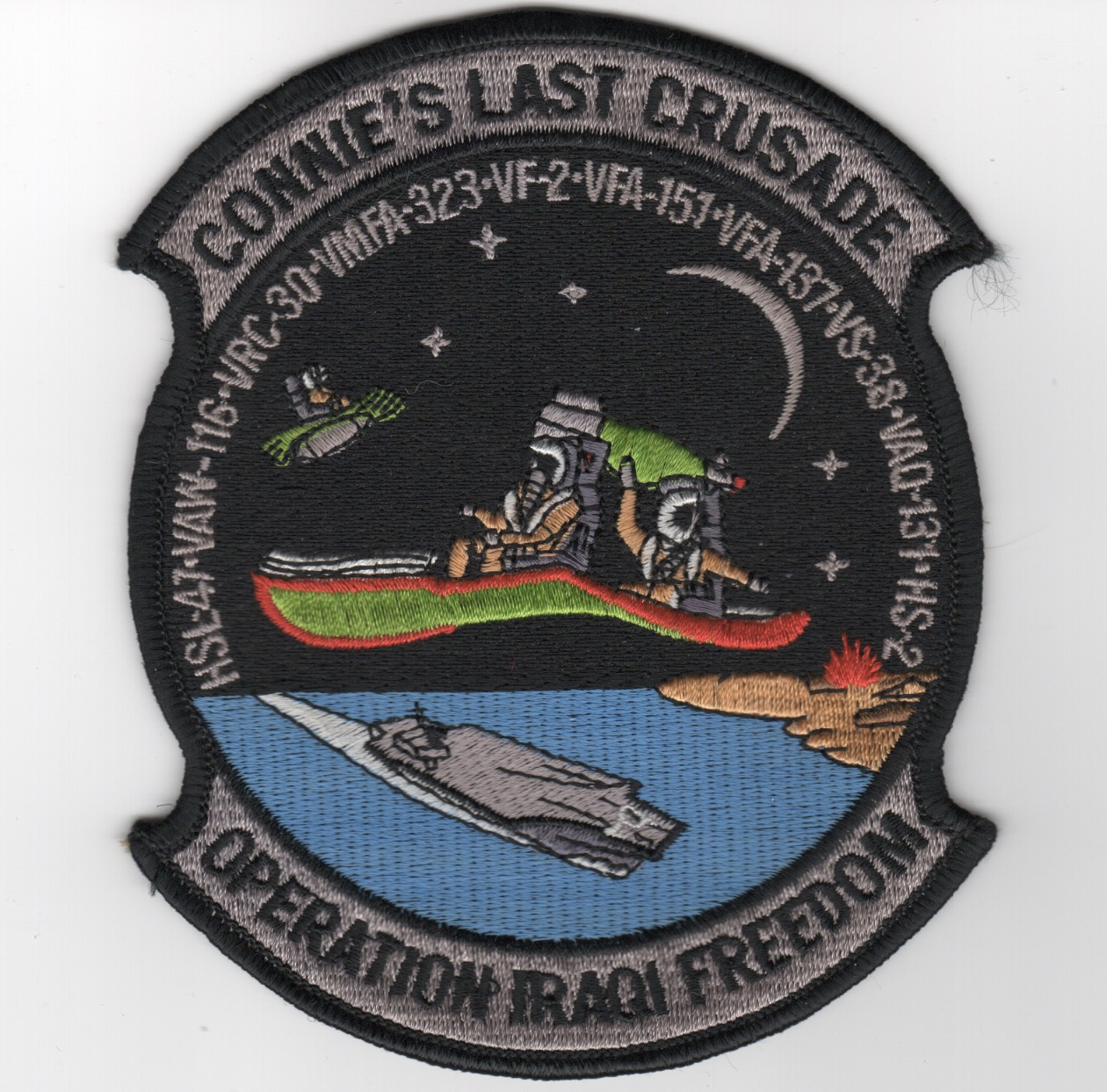 412) VF-2/CV-64 'LAST CRUSADE' Cruise Patch