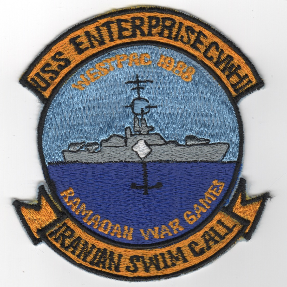 414) CVN-65 'IRANIAN SWIM CALL' Cruise Patch