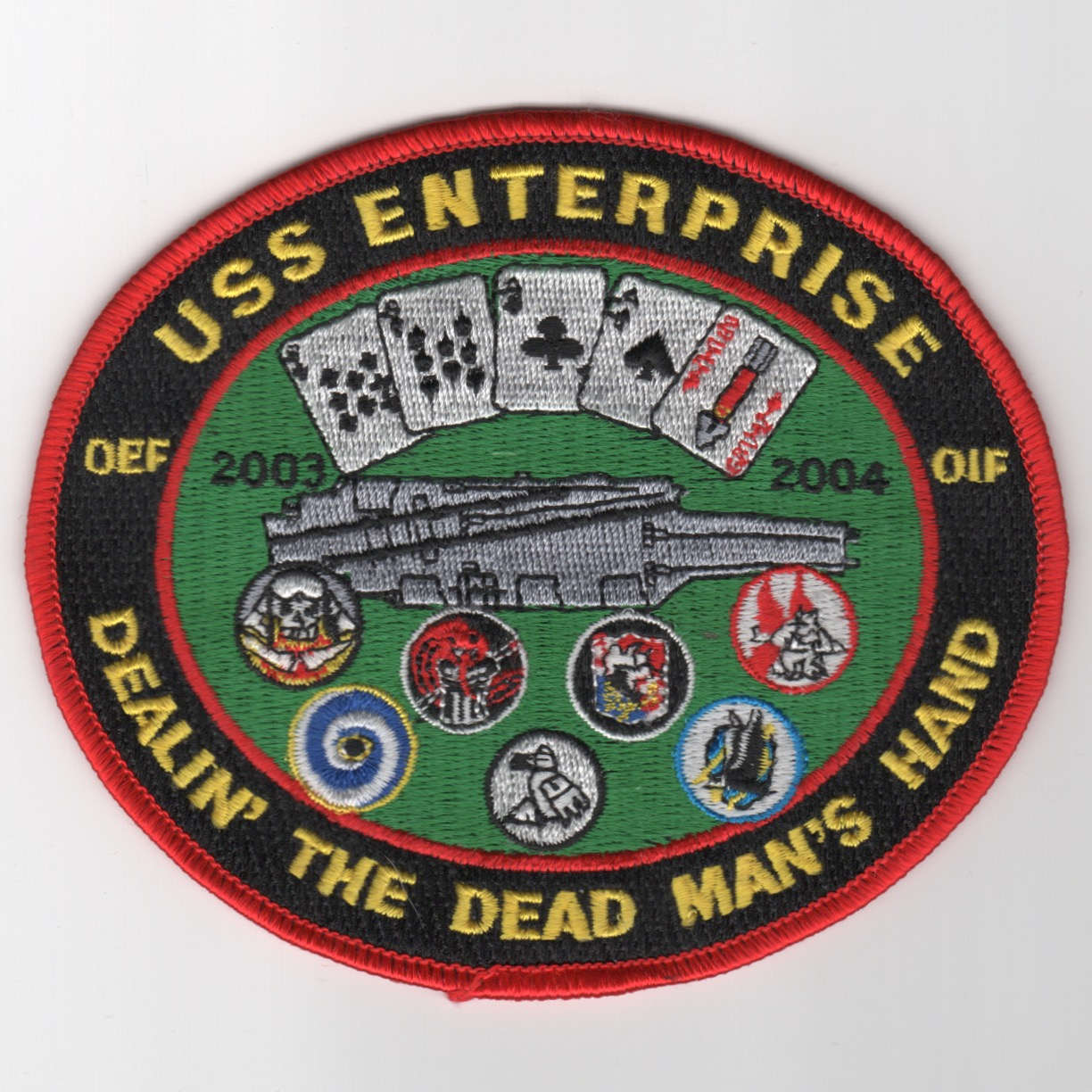 415) CVN-65 'DEAD MAN HAND' Cruise Patch