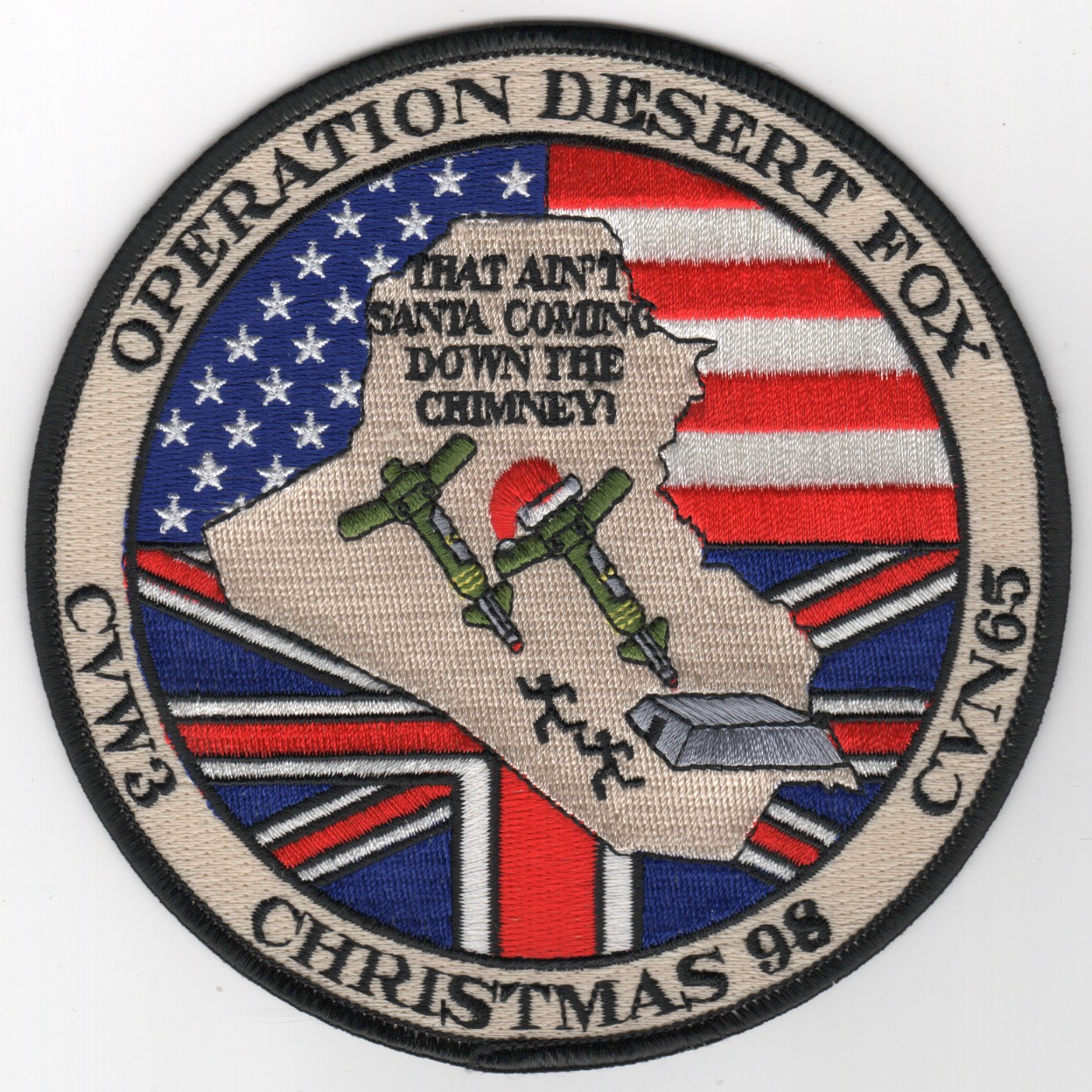 418) CVN-65 1998 'Desert Fox' Cruise Patch