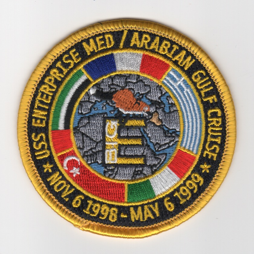 419) CVN-65 1999 'MED Cruise' Patch