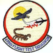 419 Flight Test Squadron Patch