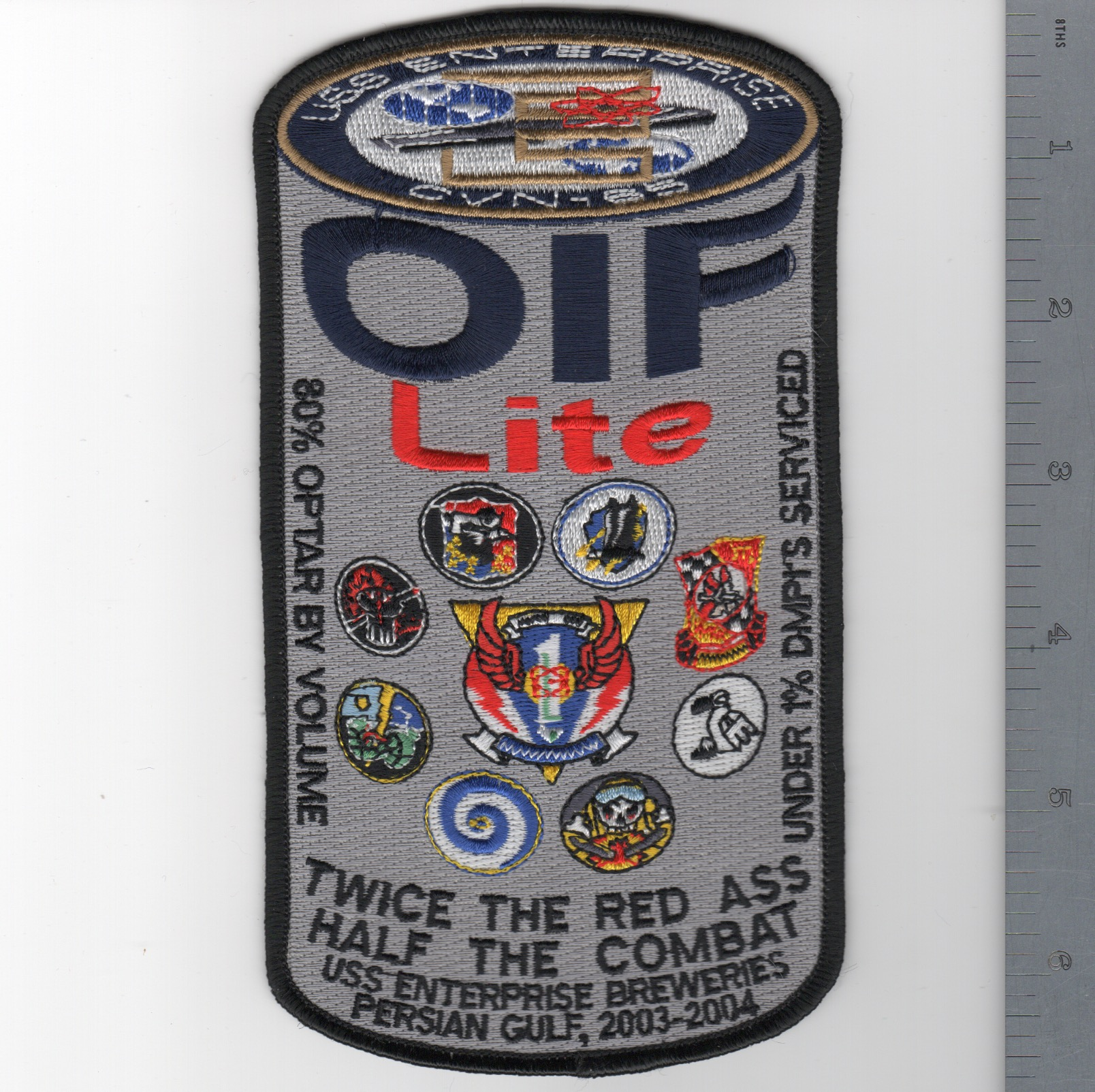 420) CVN-65 2003-04 'OIF LITE' Patch