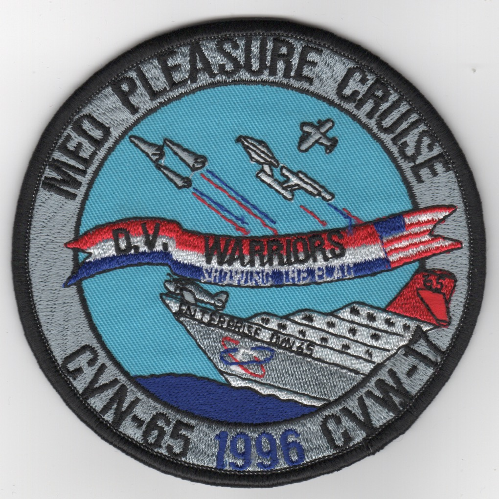 421) CVN-65 1996 'MED CRUISE' Patch