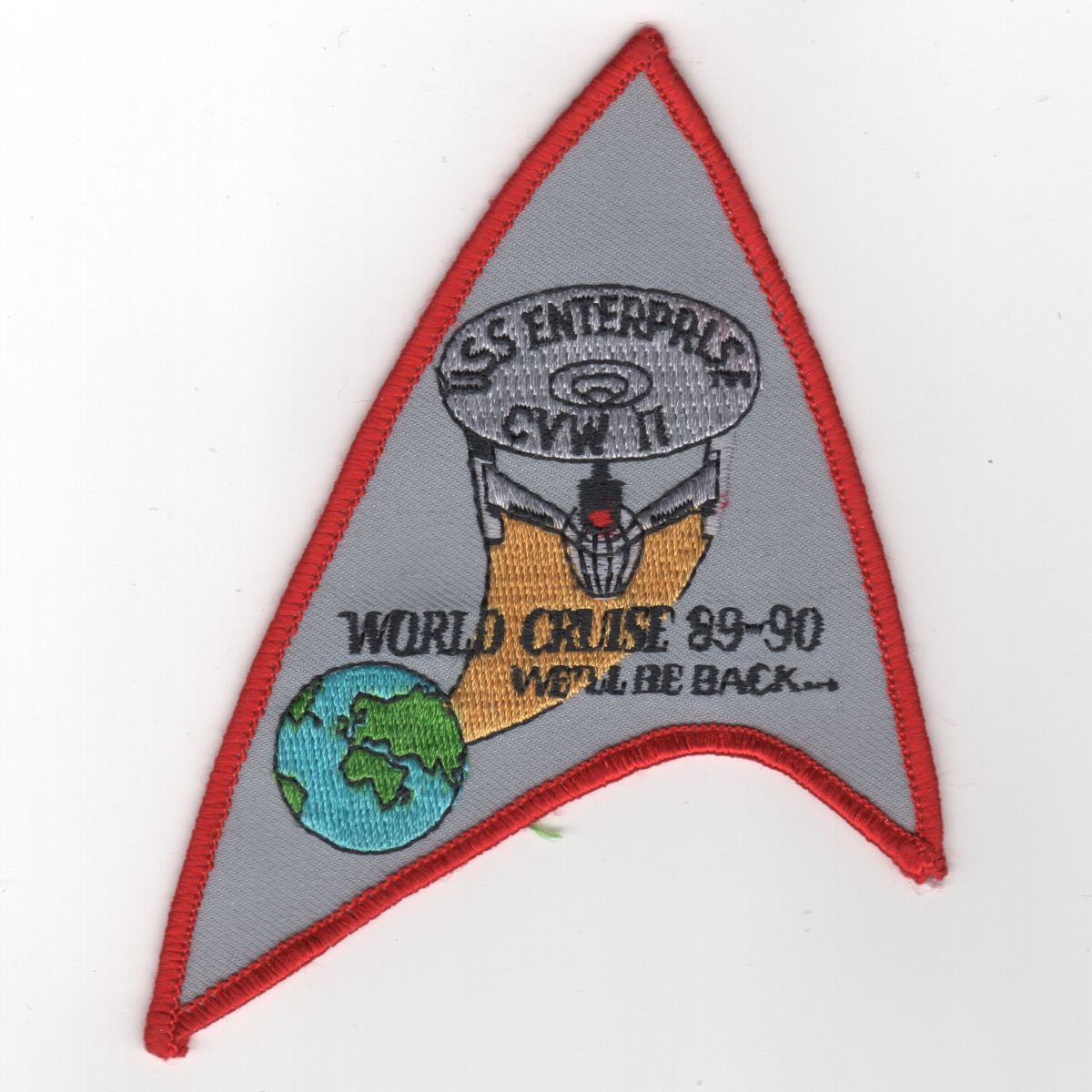 422) CVN-65 1989-1990 'WORLD CRUISE' Patch