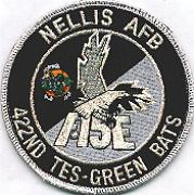 422nd TES 'Tinsel' Patch (No Velcro)