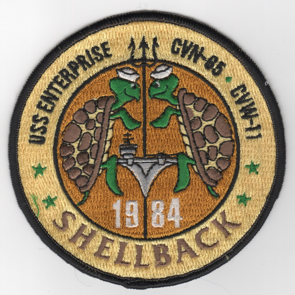 423) CVN-65 1984 'SHELLBACK' Cruise Patch