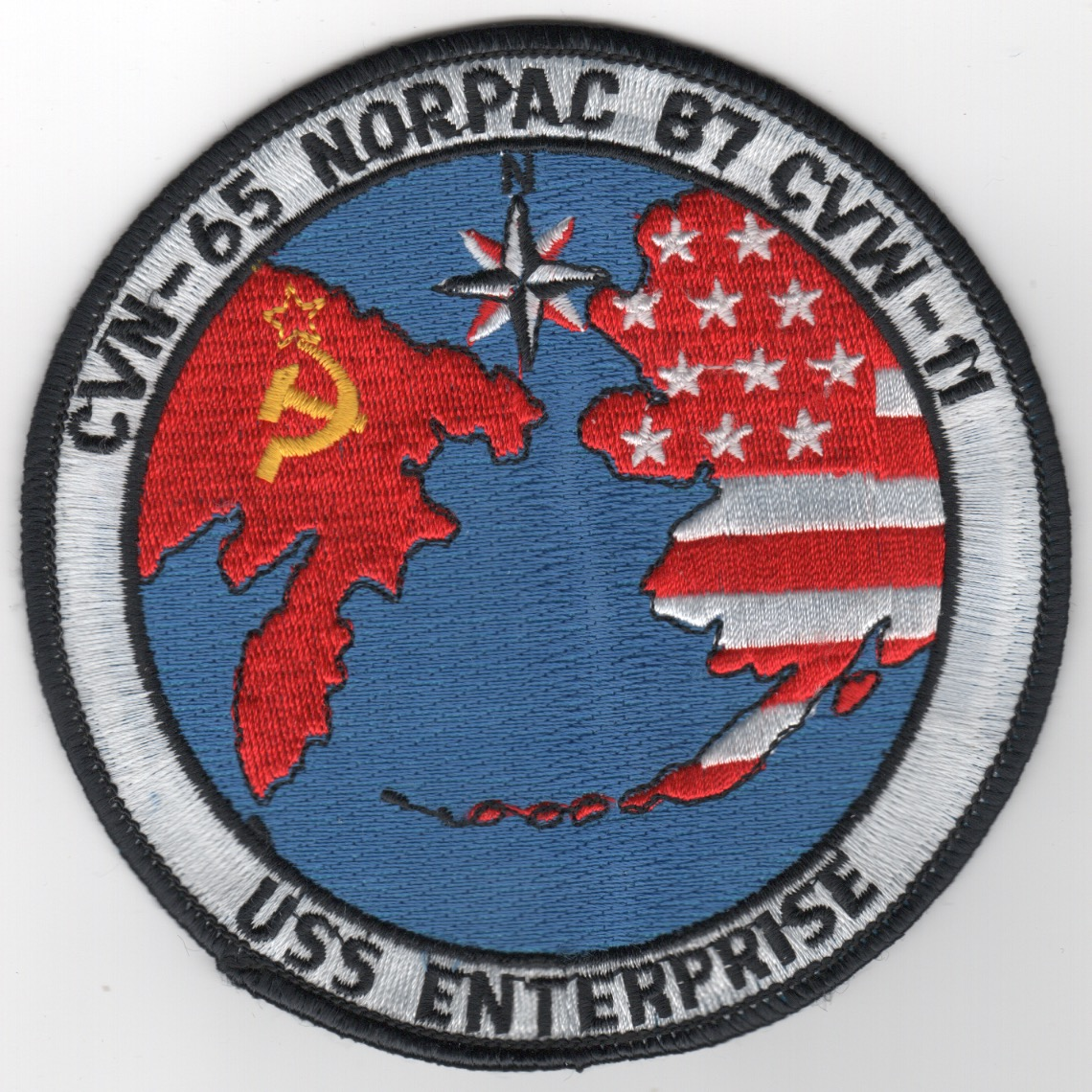 424) CVN-65 1987 'NORPAC' Cruise Patch