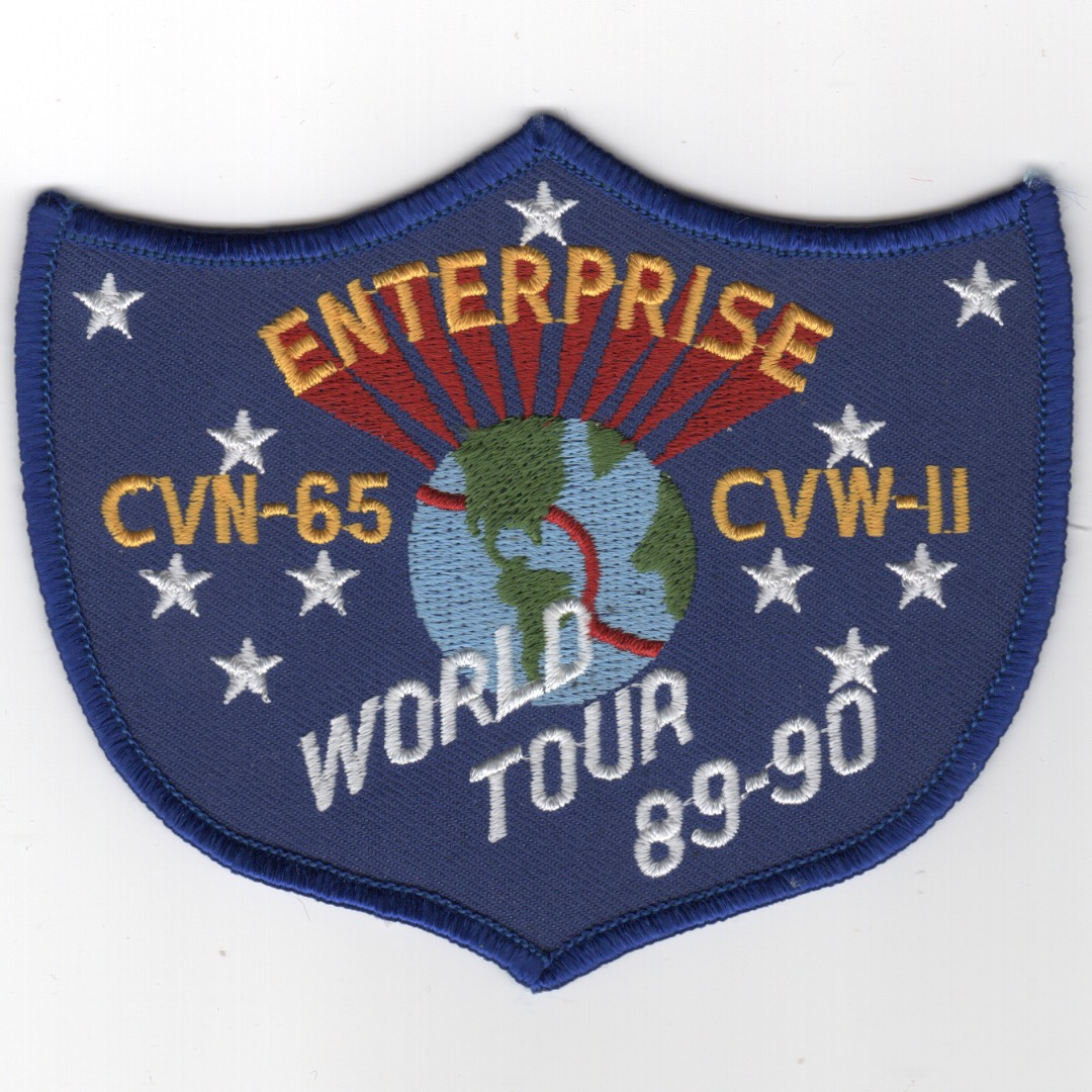 426) CVN-65 1989-90 'WORLD TOUR' Cruise Patch