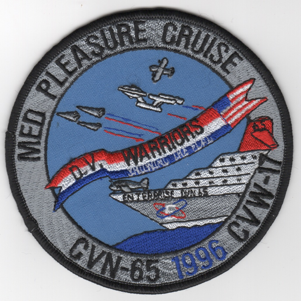 431) CVN-65 1996 'MED CRUISE' Patch