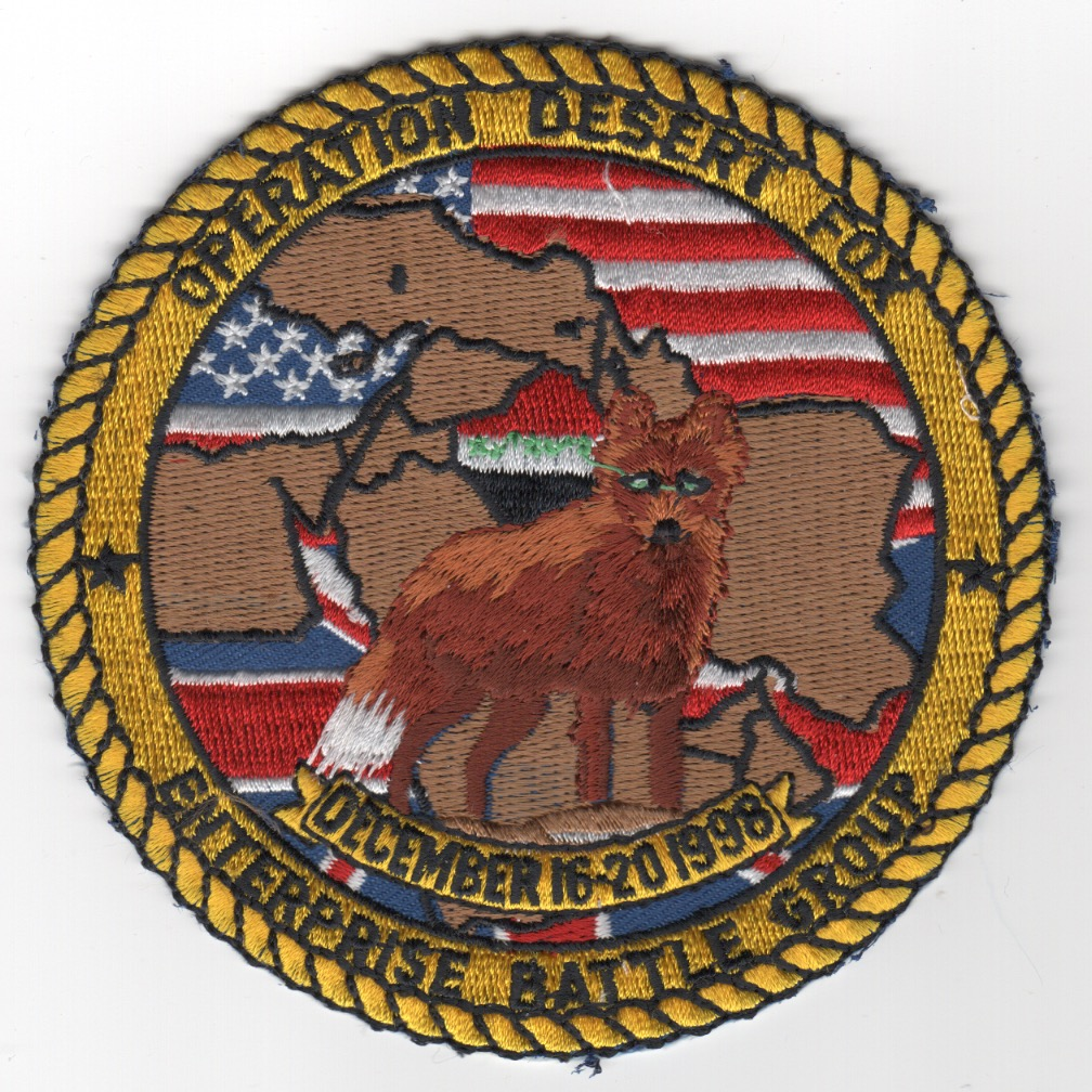 432) CVN-65 1998 'Op DESERT FOX' Cruise Patch