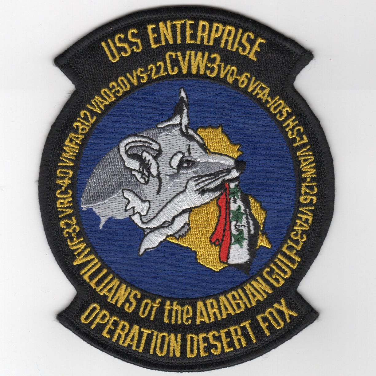 433) CVN-65 1998 'Op DESERT FOX' Cruise Patch